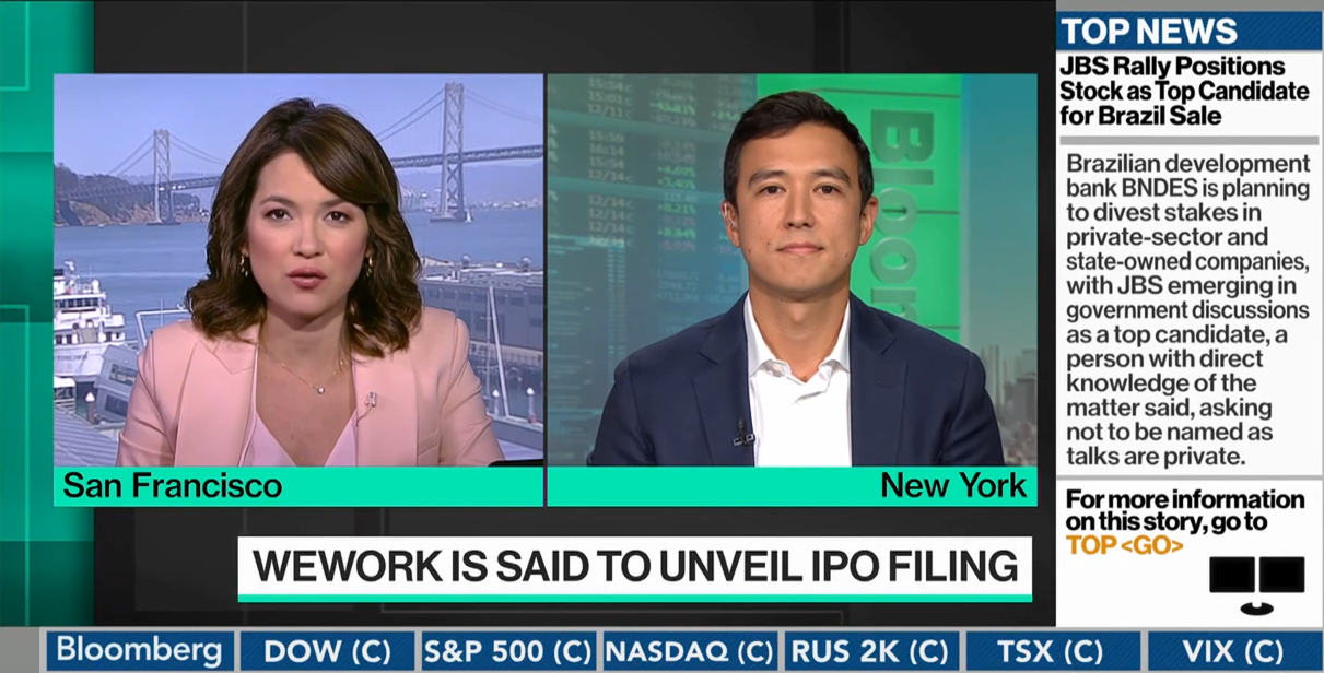 Bloomberg: EquityZen Co-Founder Phil Haslett Talks WeWork with Emily Chang Thumbnail
