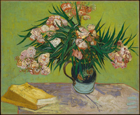 Oleanders by Van Gogh Stock