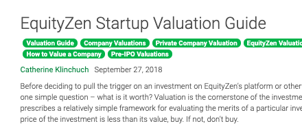 EZ Valuation guide