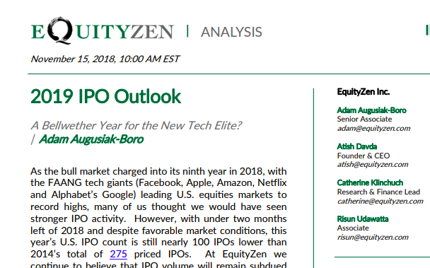 EquityZen IPO Outlook SS