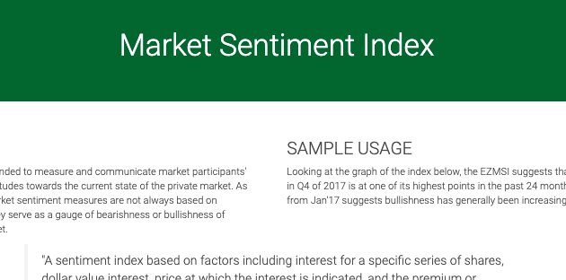 Market Sentiment Index SS